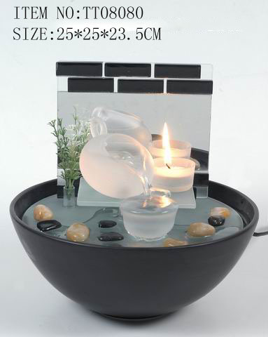 China Indoor Glass & Ceramic Base Tabletop Water Fountain ...
