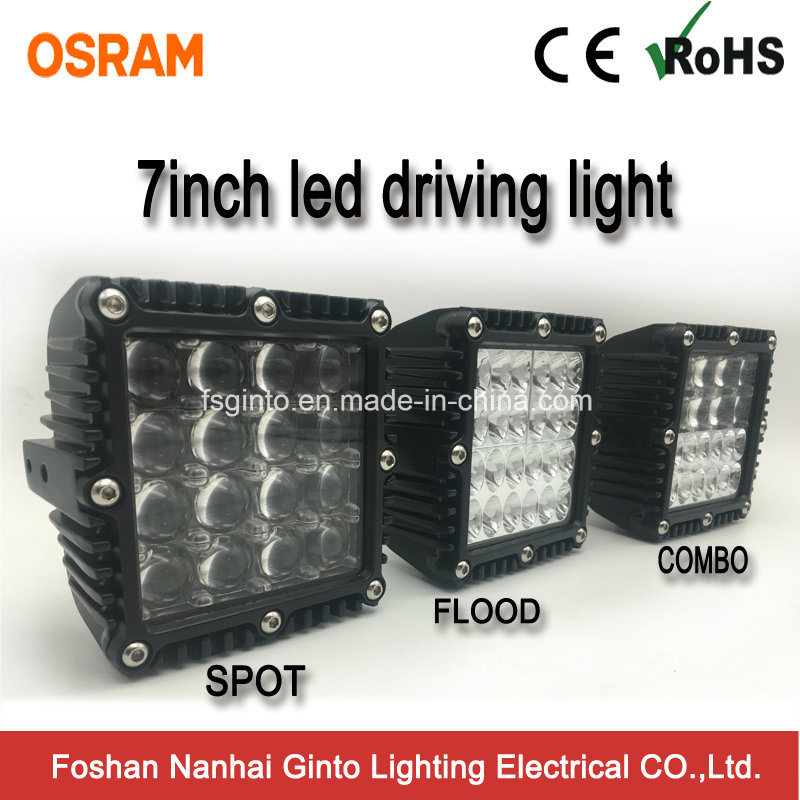 Premium 7inch Osram Square 4X4 LED Work Driving Light (GT1007Q)