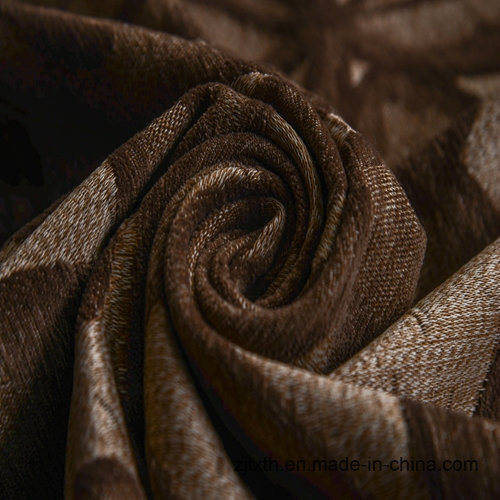 Leaf Pattern Chenille Decotative Textile and Fabric