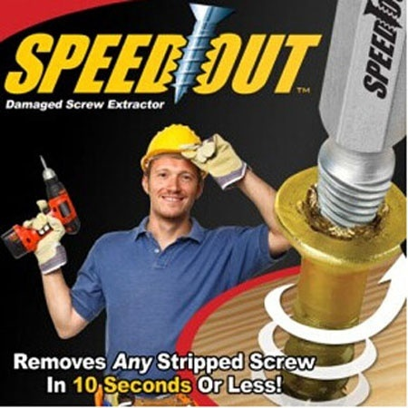 Speed out, Damaged Screw Extractor, Screwdriver