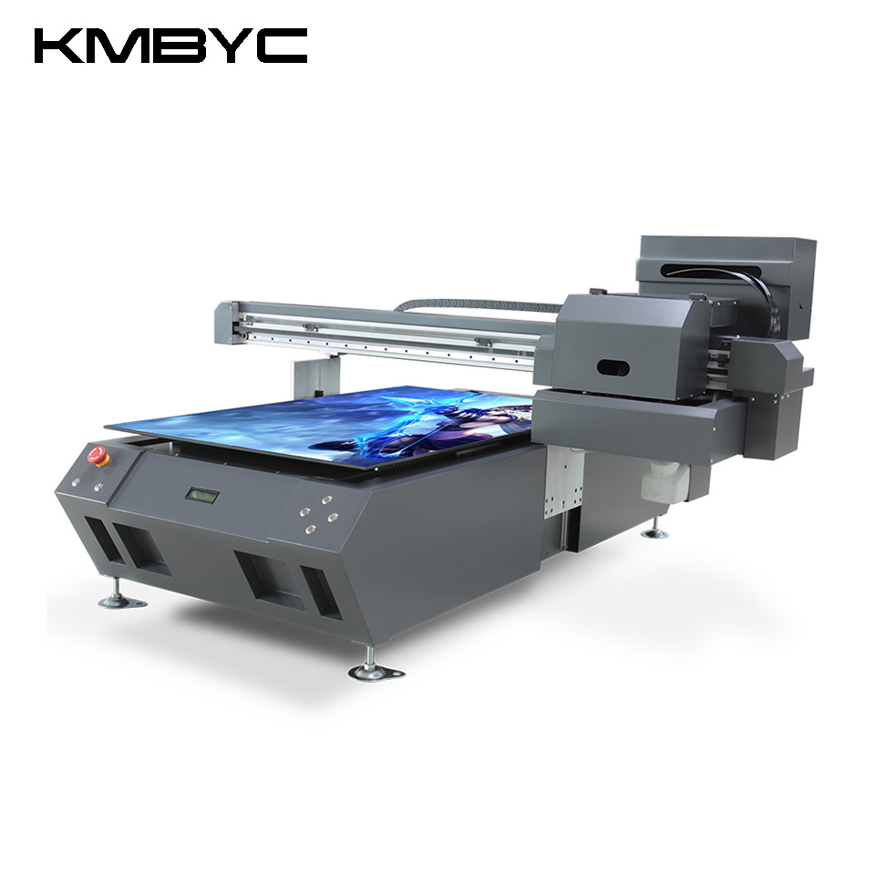 Kmbyc A1 Plus Size 2 Heads 12 Colors Flatbed UV Printer
