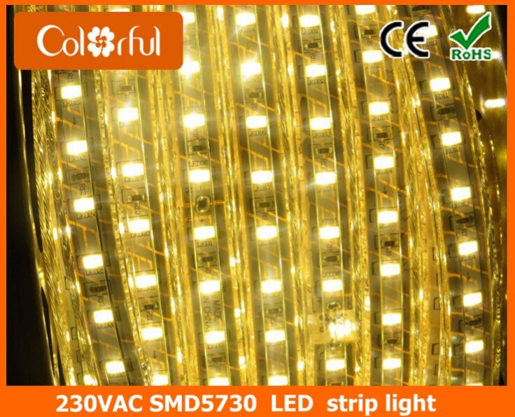 Ultra Bright Daylight White High Voltage AC220V SMD5730 LED Strip