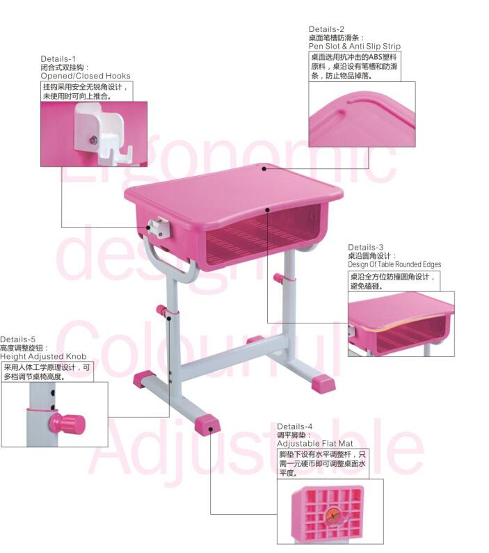 New Style Plastic School Student Desk for Children Classroom