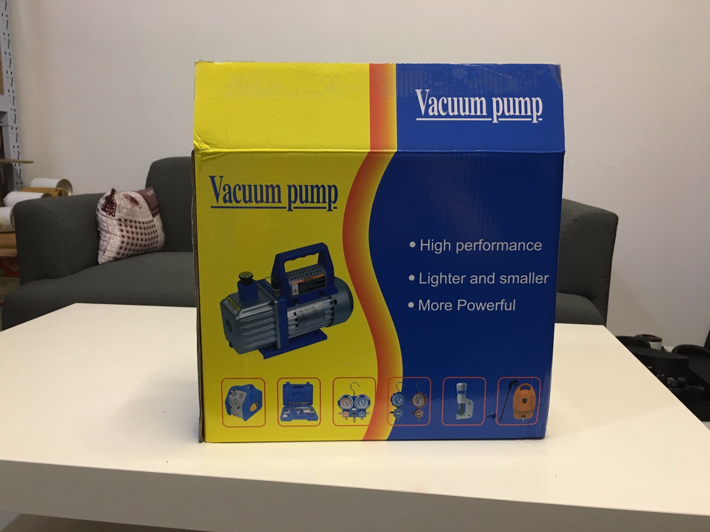 High Efficiency and Low Noise Vacuum Pump