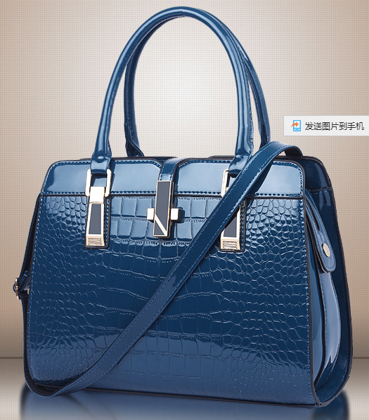 Simple Trendy Ladies Bag Stone Pattern PU Leather Women Handbags
