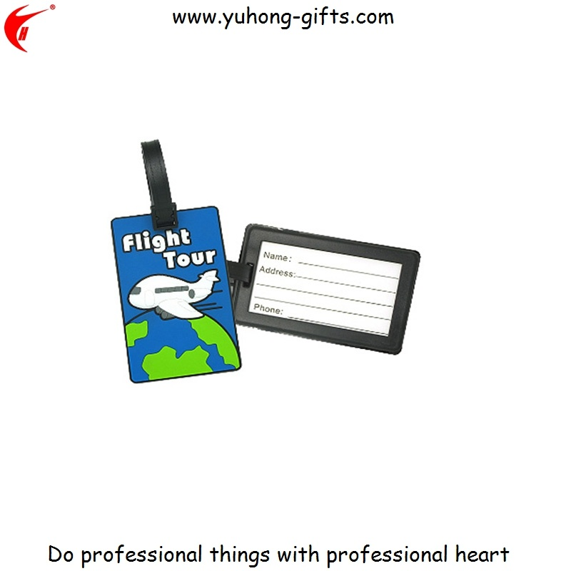Eco-Friendly PVC Luggage Tag Comply with Us Standards (YH-LT019)