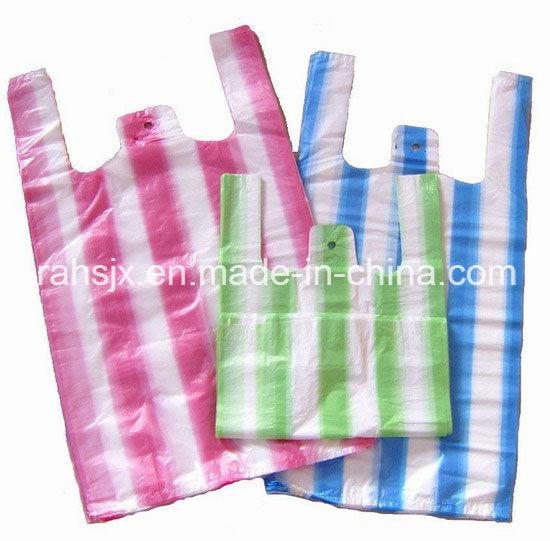 Full Automatic Double Lines Heat Cutting T-Shirt Bag Machine
