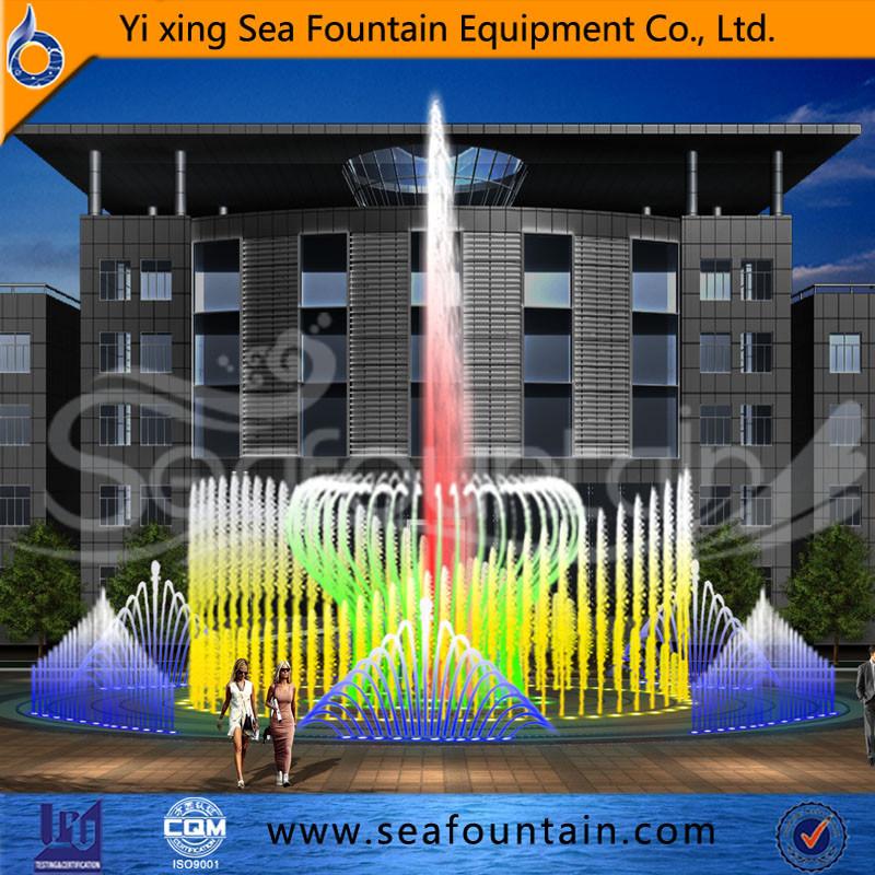 Stainless Net Multimedia Music Dry Floor Fountain