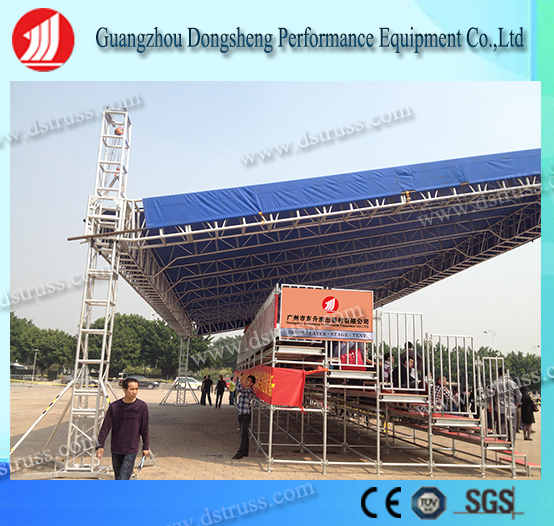 2017 Best Portable Grandstand Steel Structure Aluminum Bleachers Seating with Aluminum Alloy Truss