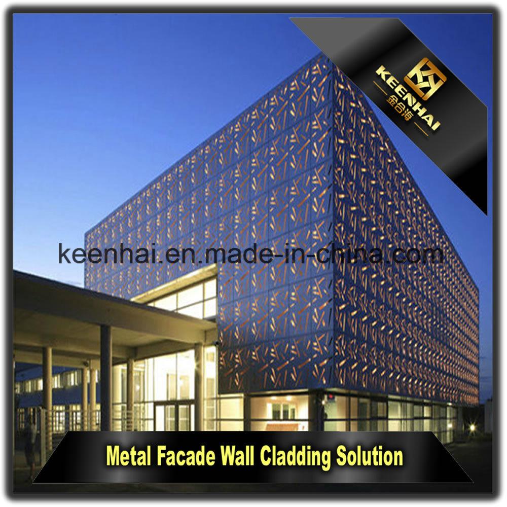 Exterior Decorative Laser Cut Aluminum Perforated Curtain Wall Cladding