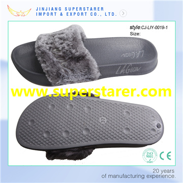Fashion Winter Slipper, Comfortable Fur Slipper for Ladies
