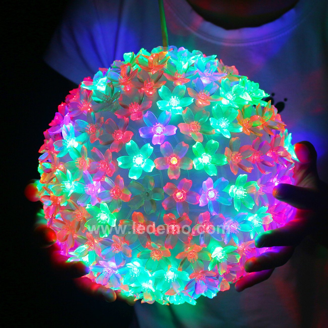 LED Decoration Multicolor Flower Ball Light