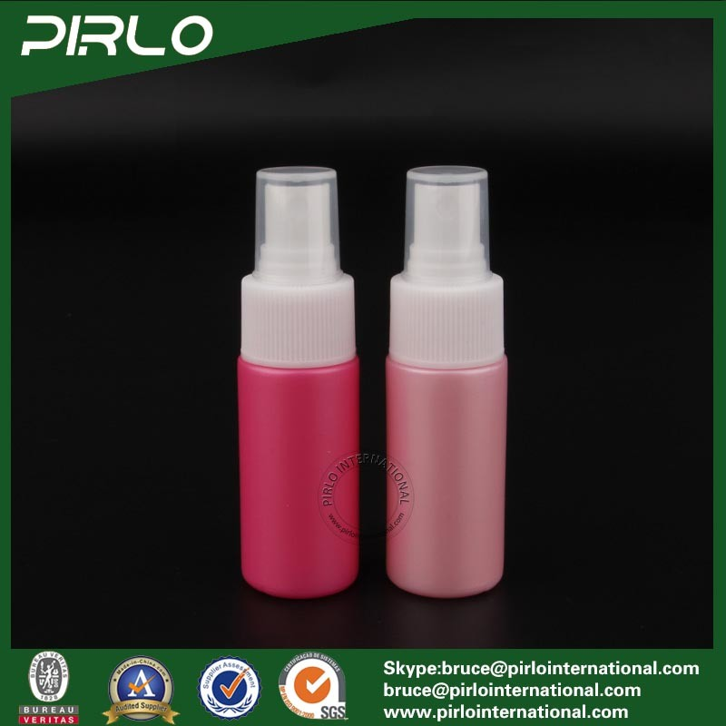 30ml 1oz Pink Color Pet Plastic Refillable Cosmetic Perfume Spray Bottle