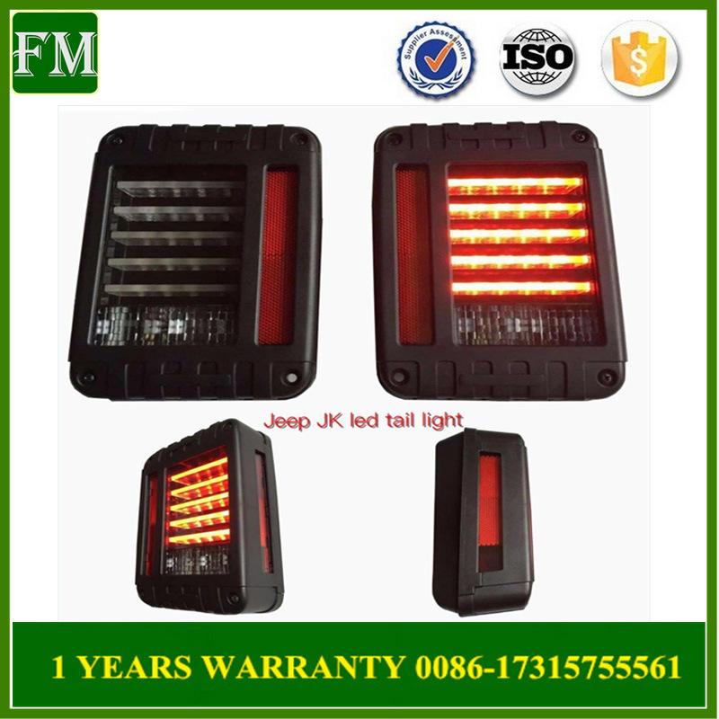 USA Type Plug and Play LED Jeep Wrangler Tail Light a Pair