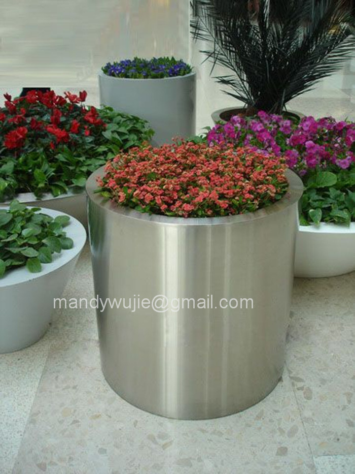 Customized Design Ornamental Stainless Steel Flowerpot
