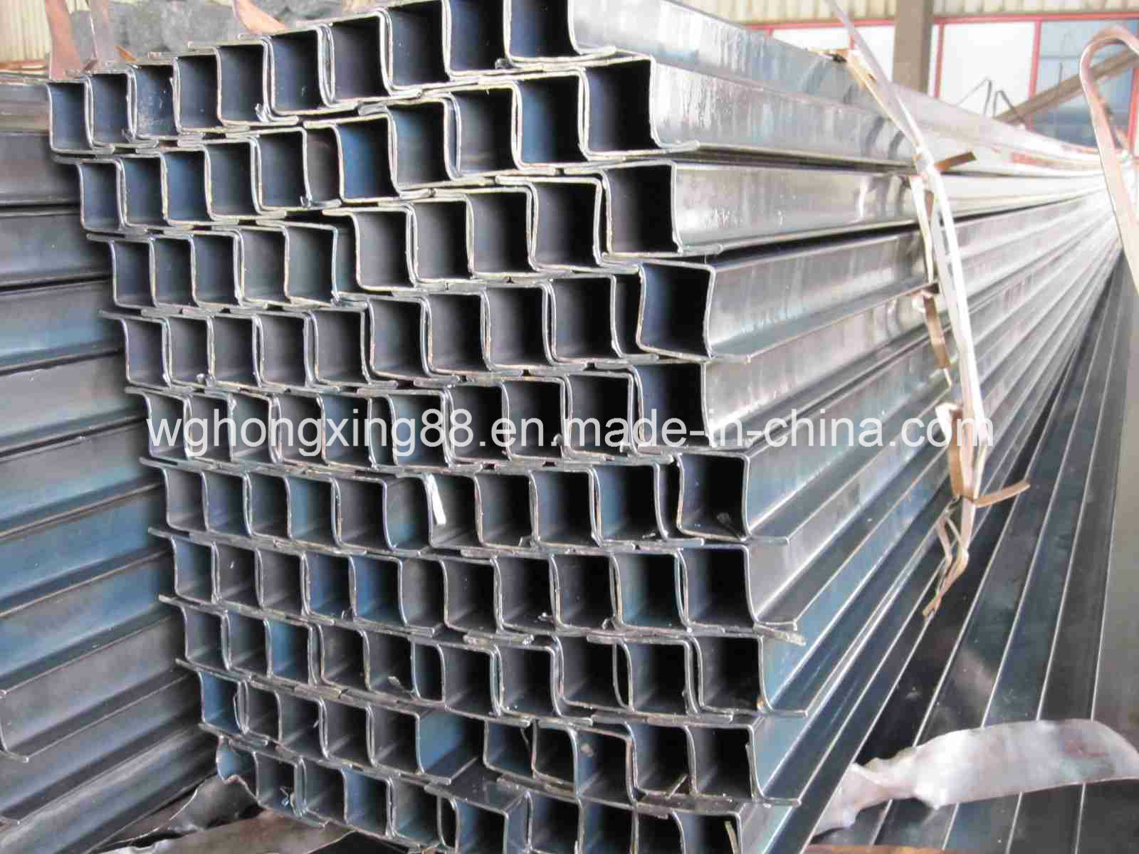 30-80G/M2 Zin Coated Pre Galvanized Square and Rectangular Steel Pipe