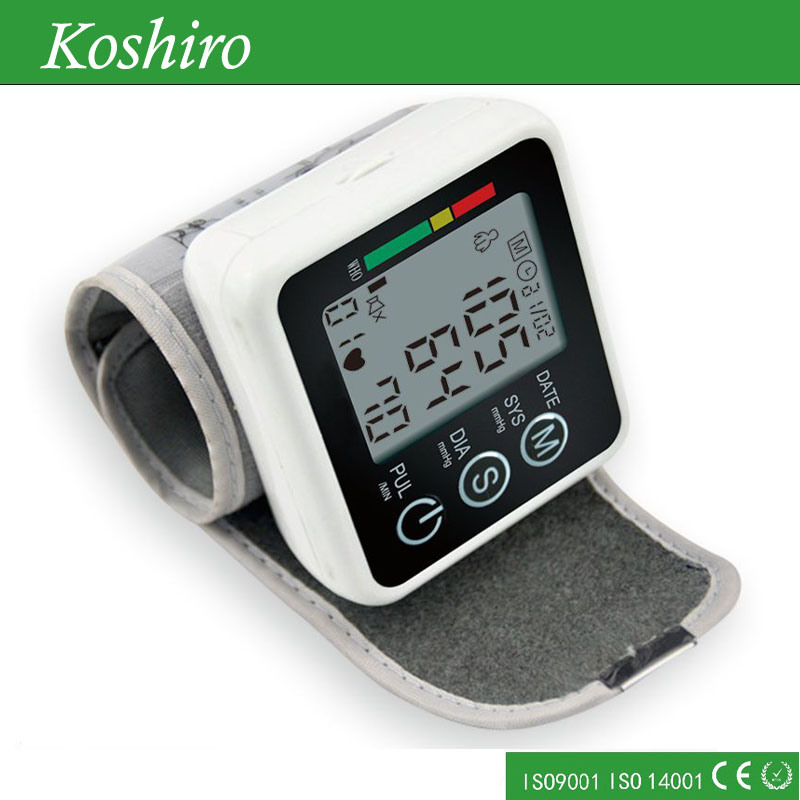 Automatic Tonometer Portale Digital Wrist Blood Pressure Monitor
