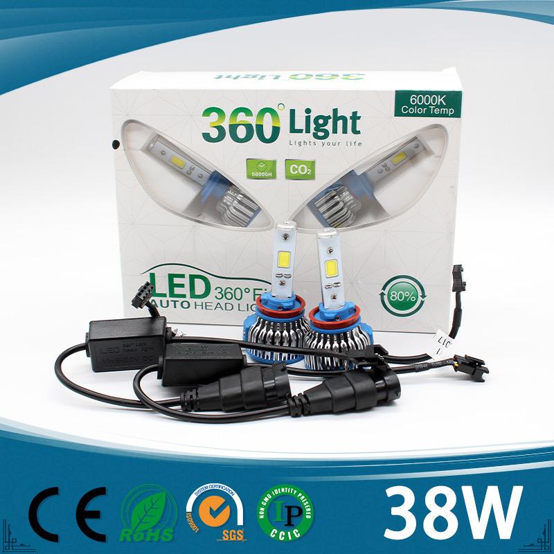 High Lumen 4000lm Unique Colors Yellow/Blue/White Car H4 LED Headlight