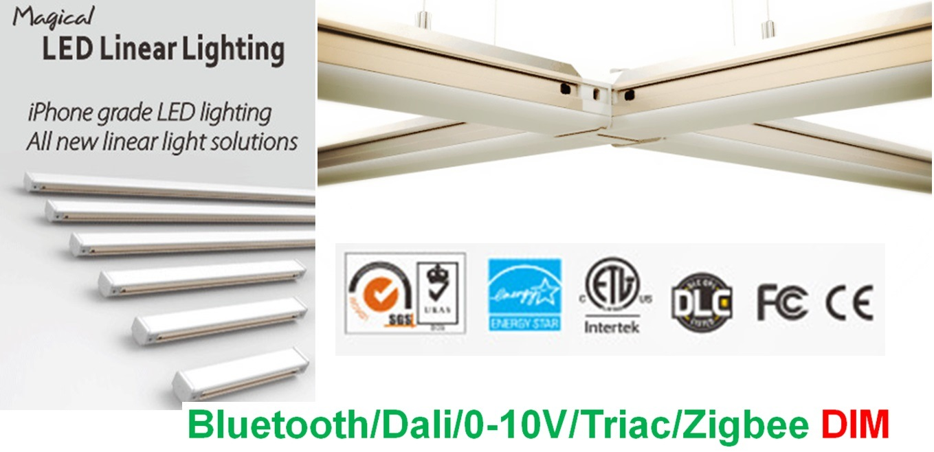 LED Linear Light with Joint Freely for Commercial Lighting with Dlc Listed Smart Lighting