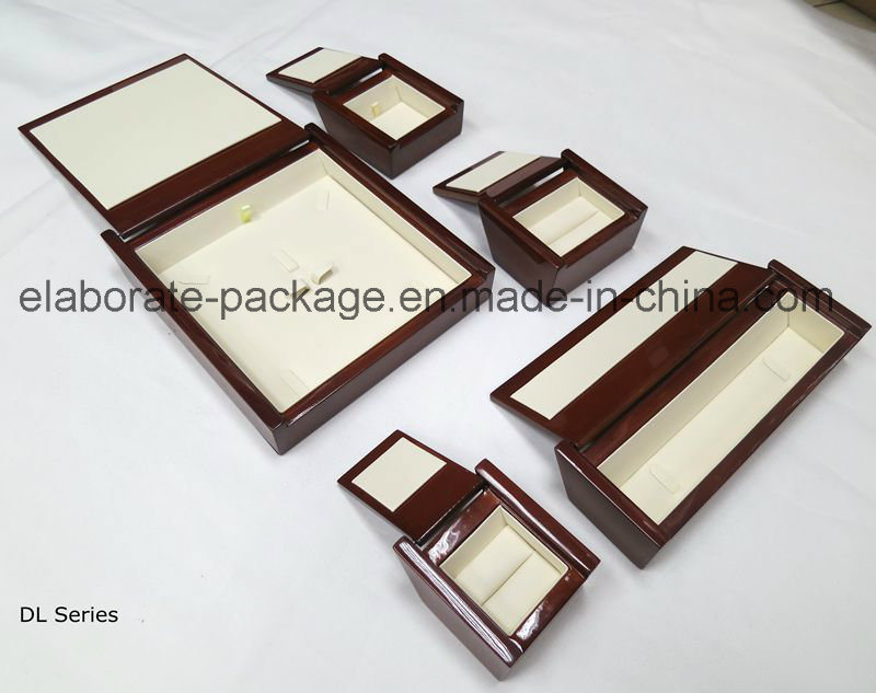 Special Shape Gloss Finish Hardwood with Woodpaper Jewellry Wood Case