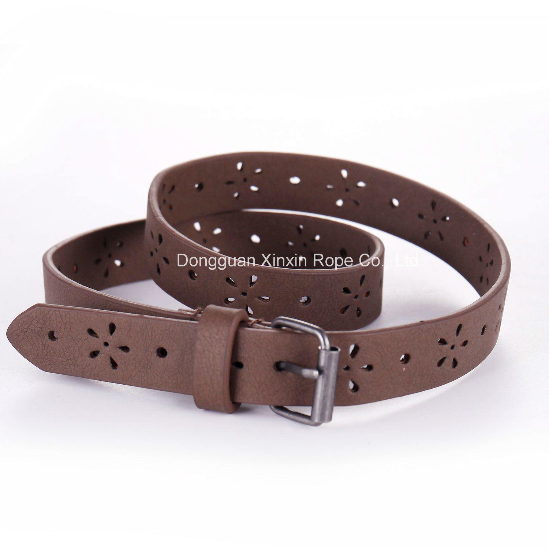 Customize Fashion Weaving Stylish PU Leather Pin-Buckle Belt