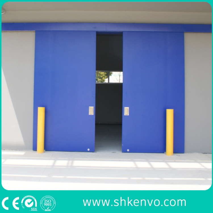 Industrial Manual or Electric Automatic Thermal Insulated Sliding Gate with Small Wicket Door