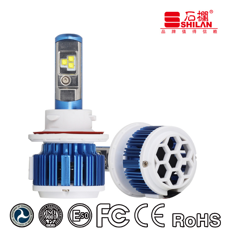 Super Brightness Car Light Bulbs 40W T3 H13 LED Headlamps