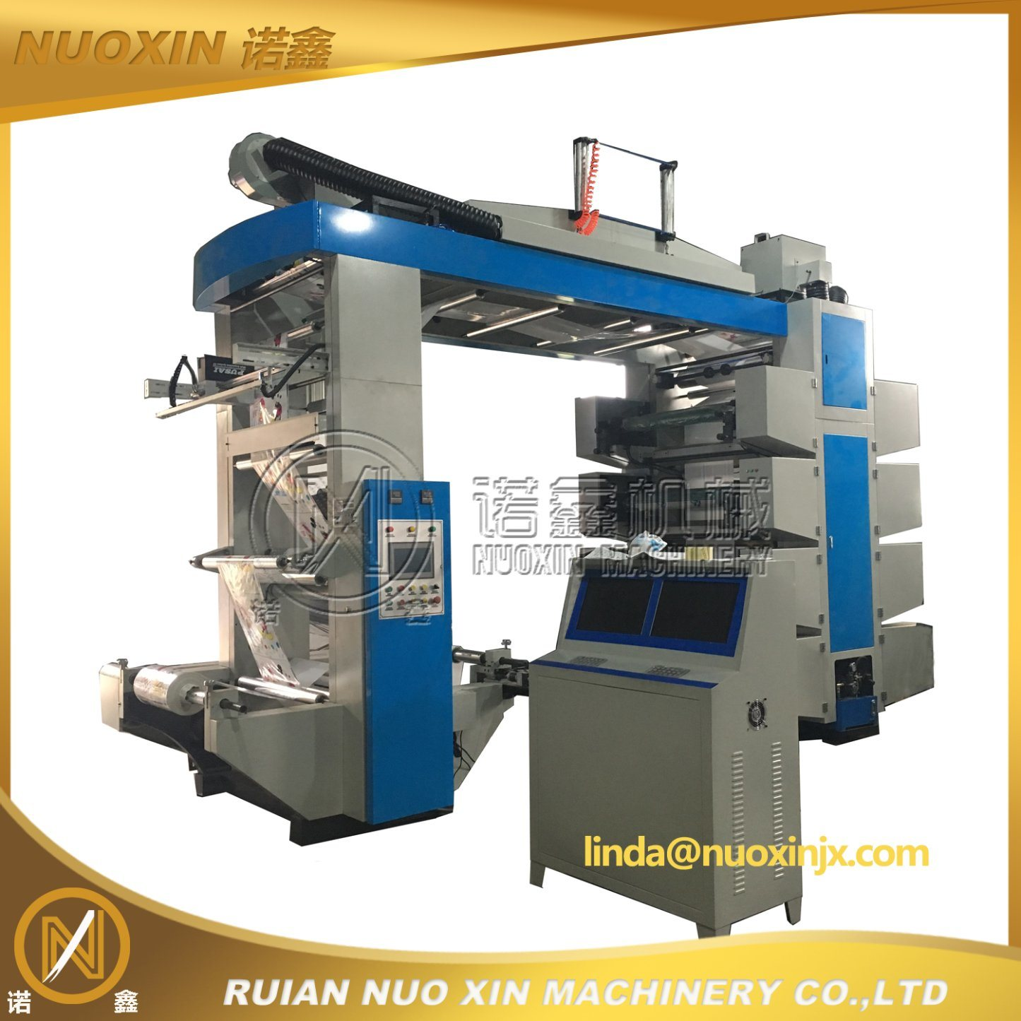 Timing Belt Type 8 Color High Speed Flexographic Printing Machine