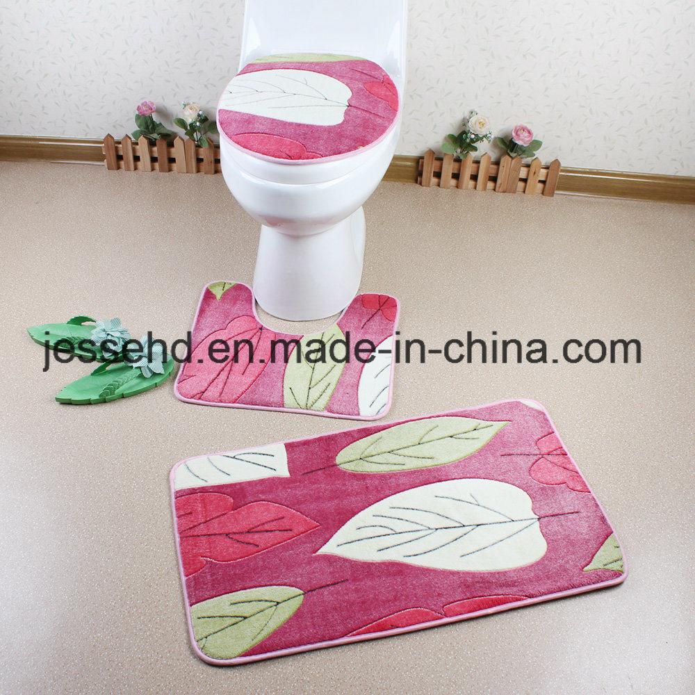 High Quality Bathroom Mat/Toilet Mat/Bath Mat Set with PVC Mesh Backing