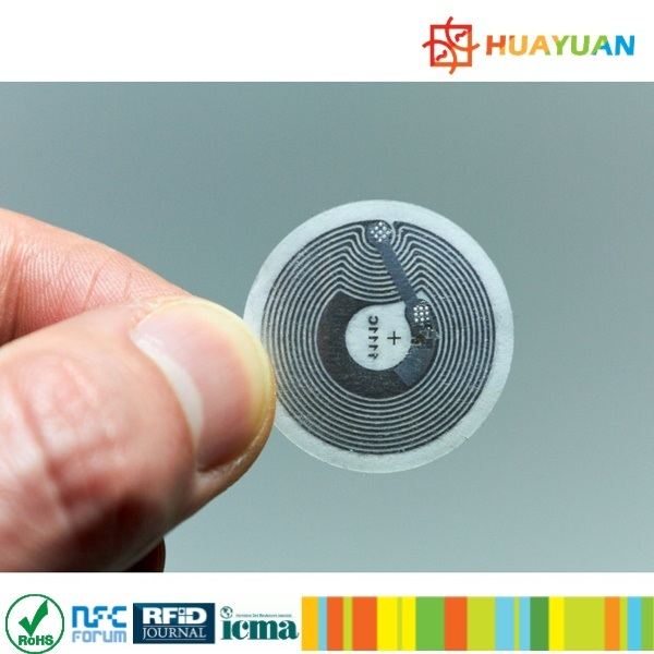 ISO18092 8X18mm MINI SIZE Smart RFID NFC ntag213 Label with Adhesive tags
