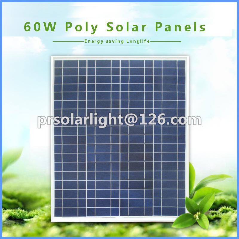 60W Poly Renewable Energy Saving Sunpower Pet Solar Panel
