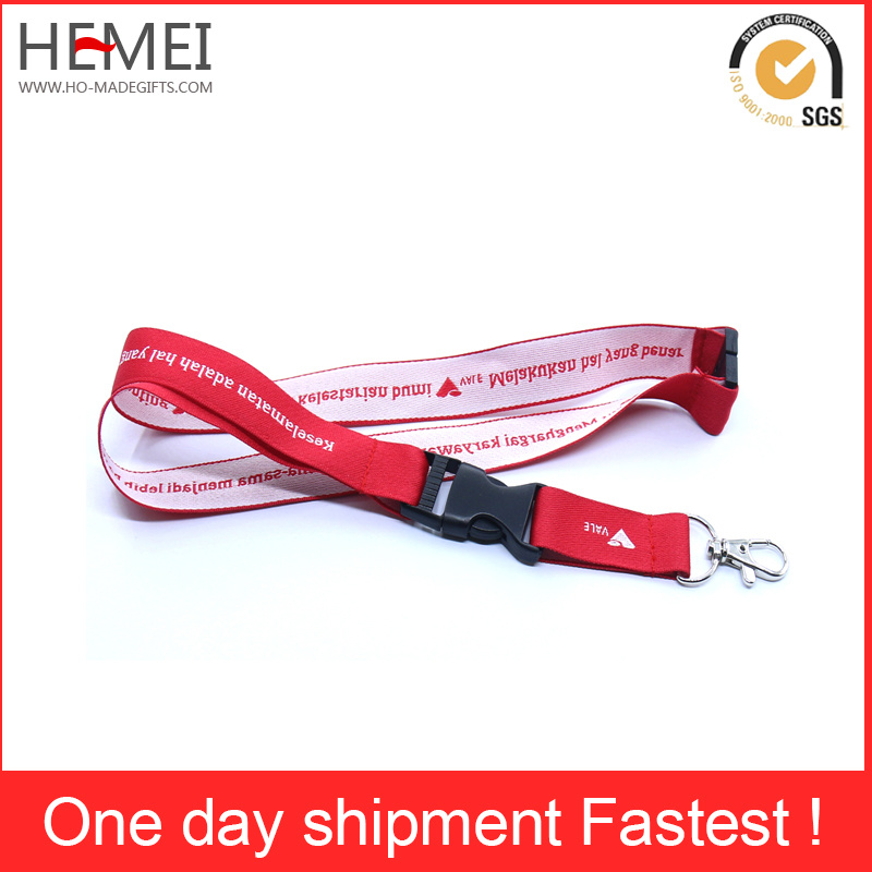 Printed Ribbon Polyester Lanyard for Badge and Medal Fabric