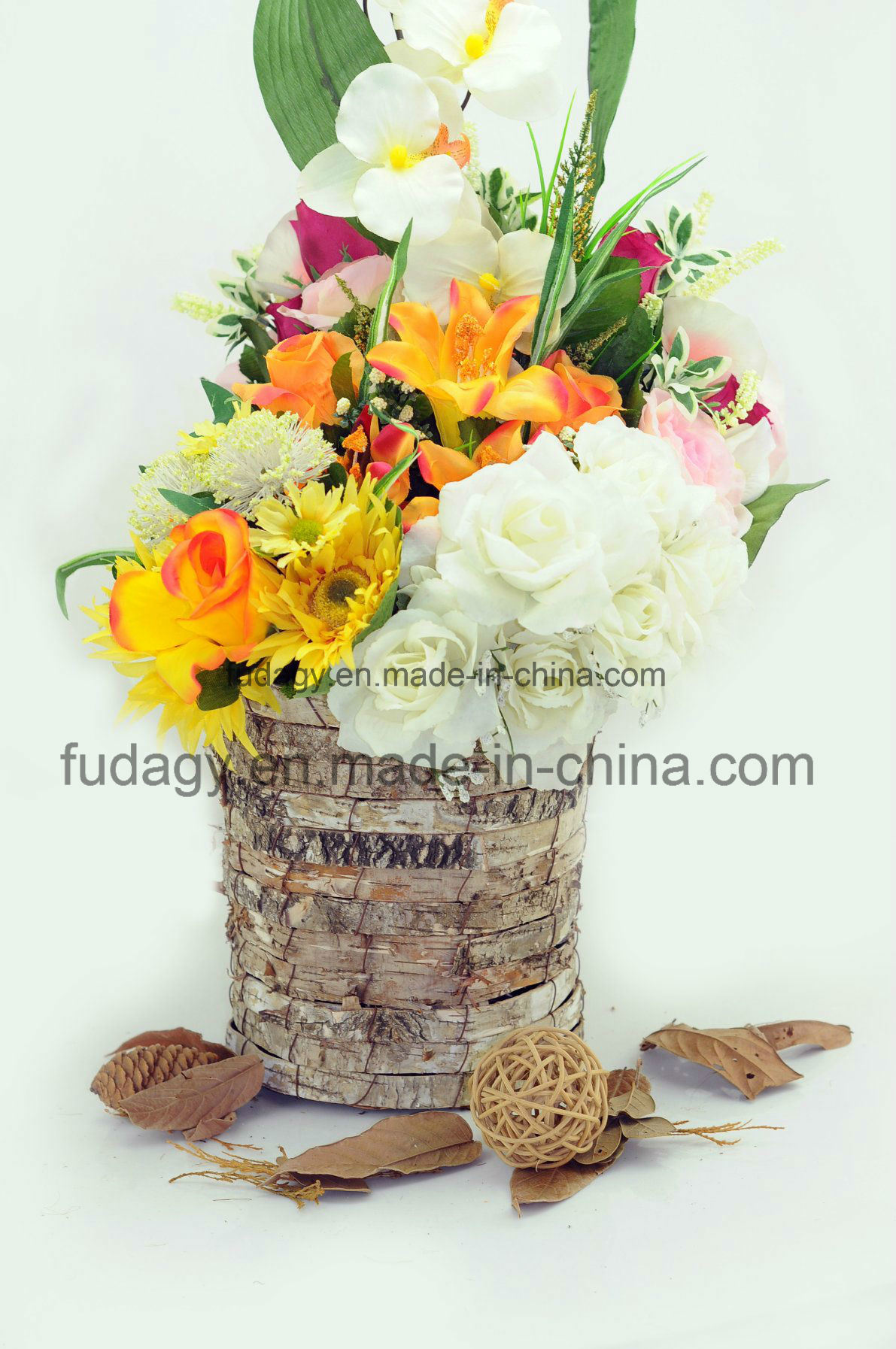 Wooden Flower Garden Pot for Outdoor Decoration