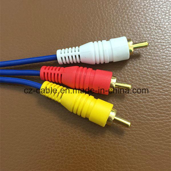 3RCA/3r Plug/Jack to 3RCA/3r Plug/Jack AV/TV/Audio/DVD/Media Cable/Wire (3R-3R)