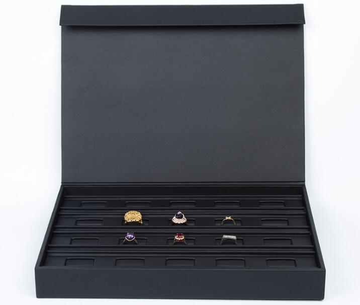 Leather Jewelry Box with PU for Storage and Display