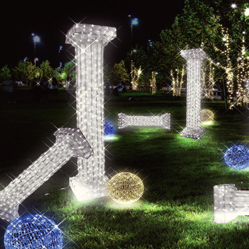 LED Customized Outdoor Decoration Roman Pillar Lights for Garden Lighting