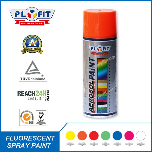 Colorful Reflective Pigment Aerosol Fluorescent Spray Paint