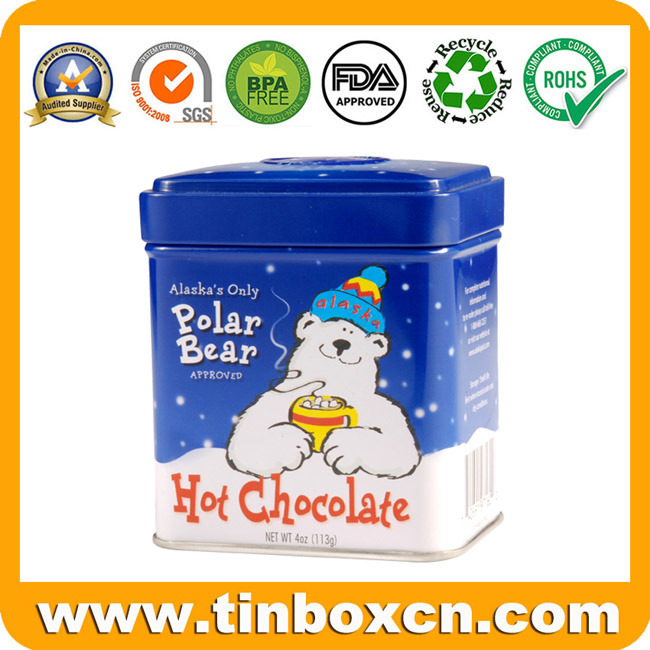 Custom Square Tin Box, Tin Can, Food Tin, Metal Tin Packaging for Candy, Chocolate, Cookie, Biscuit and Snacks