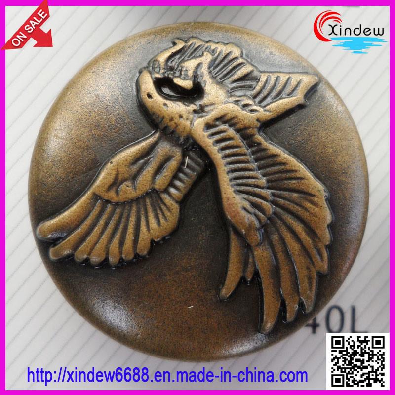 Fashion Design Plating Metal Button