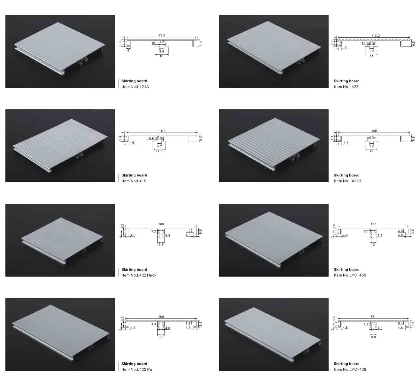 Kitchen Baseboard Aluminum Kickboard China Kitchen