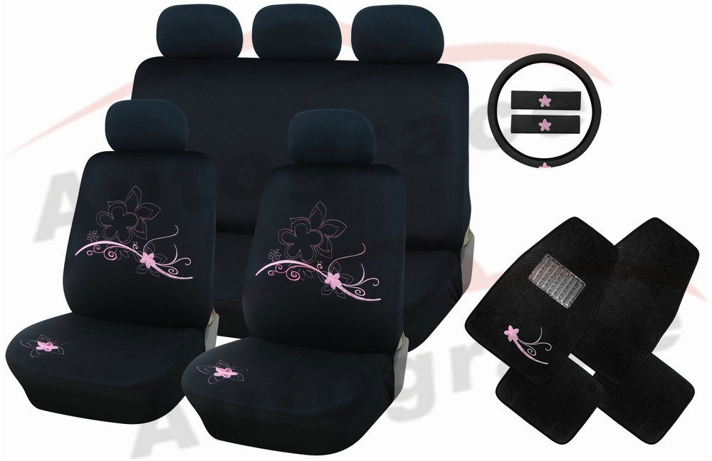 china flower car seat cover combo ag s381 photos pictures made in. Black Bedroom Furniture Sets. Home Design Ideas