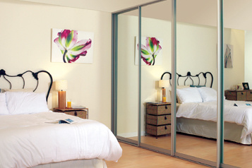 stylish design of mirrors and wood