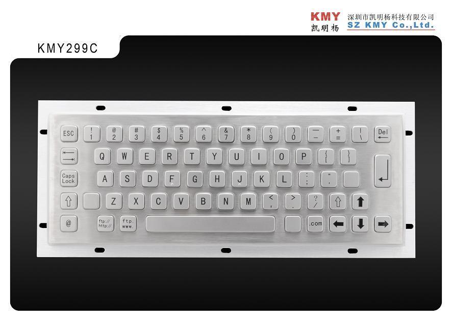 Hot Sale IP65 Waterproof Metal Keyboard (KMY299C)
