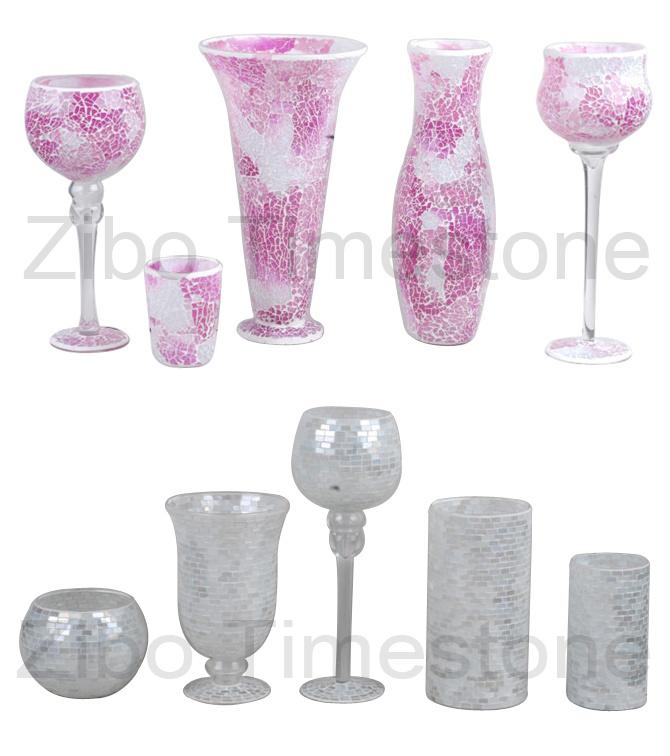 Art Mosaic Glass Vases (TM1815)