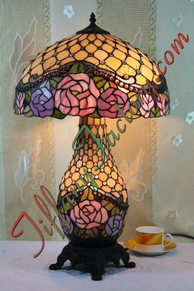china tiffany rose table lamp ls16t002648 t china tiffany lamp. Black Bedroom Furniture Sets. Home Design Ideas