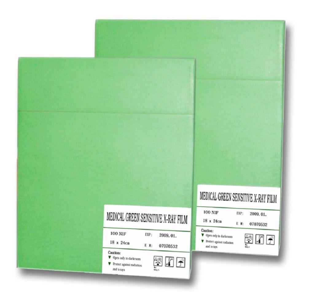 X-ray Film/Medical Film/X-ray/Medical/Film/Radiology Film/Analogue Film/Wet Film/Conventional Film/Medical Consumables/Green Sensitive/Blue Sensitive/18X24cm