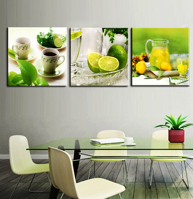 3 Piece Hot Sell Modern Wall Painting Fruits Painting Home Decorative Wall Art Picture Painted on Canvas Home Prints Mc-200