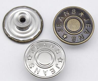 Metal Jeans Button Lead and Nickel Free for Man, Woman and Kids Clothing