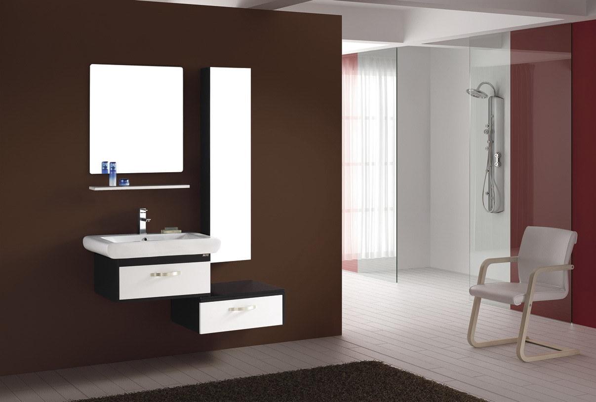 China Solid Wood Bathroom Vanity FM S9166 China Solid