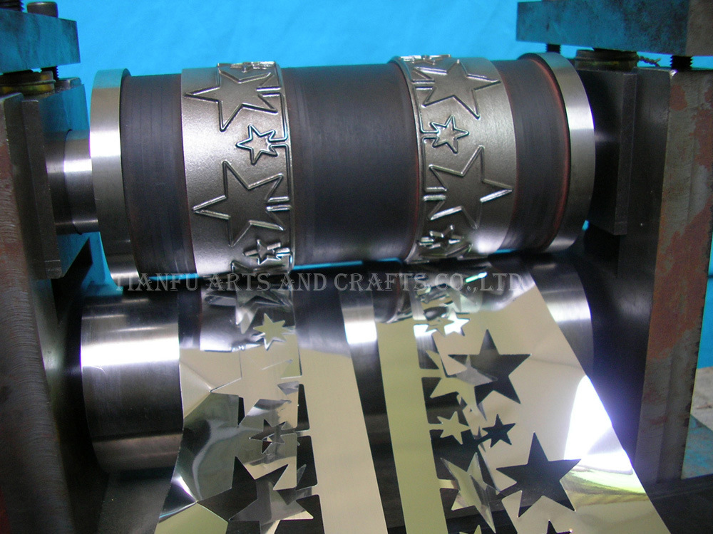 China cutting roll mould for metallic pvc tinsel garland